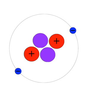 Isotopes of helium - A helium-4 atom contains two protons, two neutrons, and two electrons