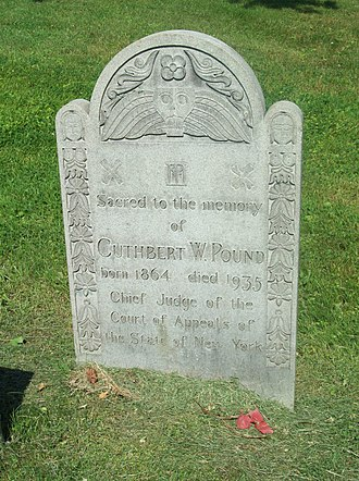 Cuthbert W. Pound - Headstone of Cuthbert W. Pound, Cold Springs Cemetery, Lockport, New York.