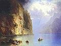 Heinrich Heinlein - Bergsee mit steiler Felswand.jpg