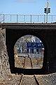 Helsinki harbour rail under Mannerheimintie Bridge.jpg