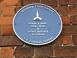 Henry hatcher plaque in salisbury