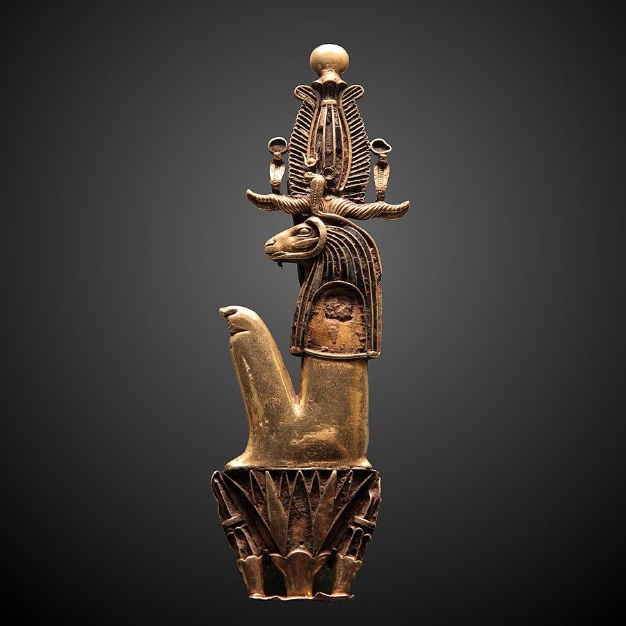 Herishef as ram sitted on nenufar-E 11074