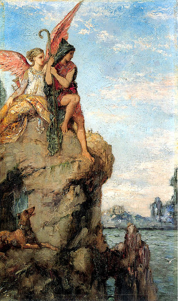 File:Hesiod and the Muse by Gustave Moreau (1870).jpg