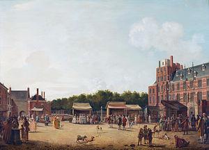 Buitenhof (The Hague) - William V, Prince of Orange and his family visit the Buitenhof in 1781.
