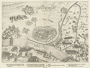 Siege of Deventer (1591) - Image: Het beleg van Deventer (1591) door Prins Maurits The siege of Deventer in 1591 by Prince Maurice (Bartholomeus Willemsz. Dolendo)