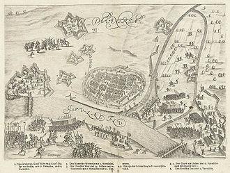 Johannes van Heeck - The siege of Deventer in 1591