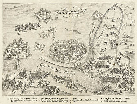 June 1-June 10: Siege of Deventer Het beleg van Deventer (1591) door Prins Maurits - The siege of Deventer in 1591 by Prince Maurice (Bartholomeus Willemsz. Dolendo).jpg