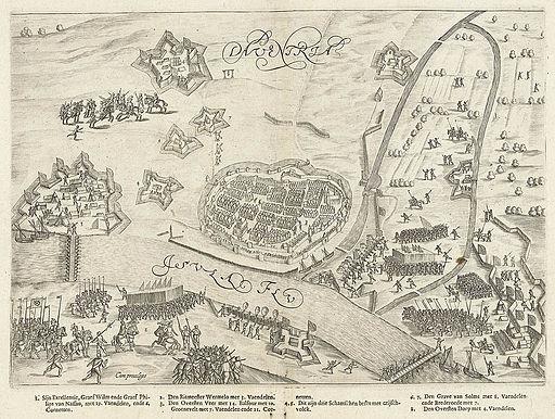 Het beleg van Deventer (1591) door Prins Maurits - The siege of Deventer in 1591 by Prince Maurice (Bartholomeus Willemsz. Dolendo)