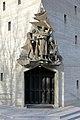 Hietzing (Wien) - Kirche zum guten Hirten, Bronzeplastik.JPG