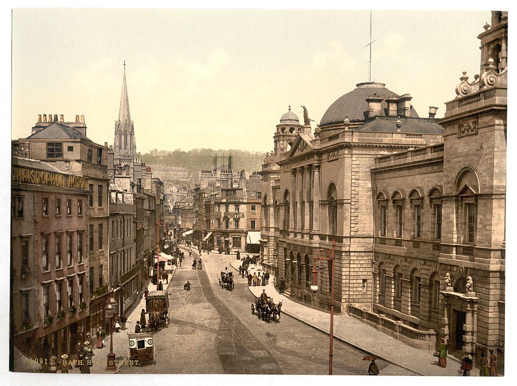 File:High Street, Bath, England-LCCN2002696373.jpg - Wikimedia Commons