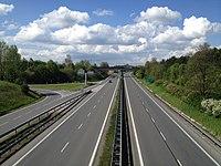 Highway D46 (Czech Republic) on 1st kilometr to the north.jpg