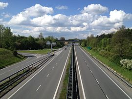Highway D46 (Czech Republic) on 1st kilometr to the north.jpg
