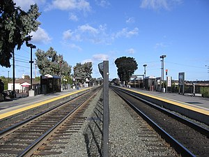 Hillsdale station (Caltrain) - Looking north at Hillsdale Station, November 10, 2012