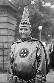 Hiram Wesley Evans Imperial Wizard of the Ku Klux Klan