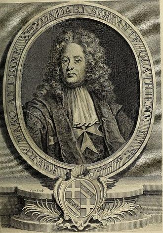 Marc'Antonio Zondadari - Image: Histoire des Chevaliers Hospitaliers de S. Jean de Jerusalem appellez depuis les Chevaliers de Rhodes, et aujourd'hui les Chevaliers de Malthe (1726) (14594154237)