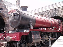 A recreation of the Hogwarts Express