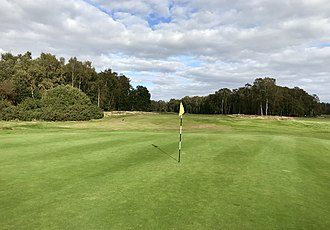 Woodhall Spa Golf Club - 14th fairway from green (Hotchkin)