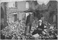 Home Again. An old French couple visiting their former house in the devastated region, vacated by the Germans, find a... - NARA - 533654.tif