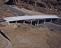 Hoover Dam Bypass under construction, bridge over old US 93, Arizona side 2010-10-12.jpg