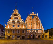 House of Blackheads at Dusk 2, Riga, Latvia - Diliff.jpg