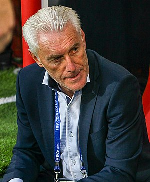 Hugo Broos - Broos coaching Cameroon at the 2017 FIFA Confederations Cup