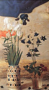 Hugo van der goes portinari triptych central vases.jpg