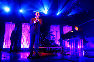 Hurts - Hurts performing in Milan, 24 October 2010.