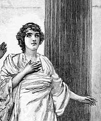 Hypatia fra en gravering fra en teateruppsættning1893 på Haymarket Theatre.
