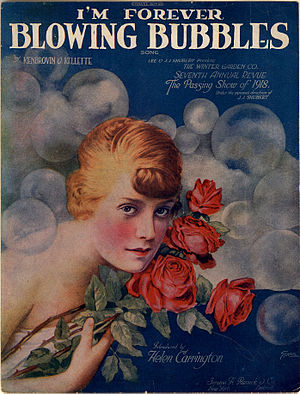 1919 in music - Image: I'm Forever Blowing Bubbles (sheet music cover)