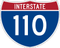 Interstate 110 marker