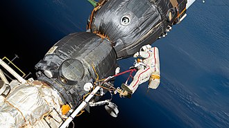 2018 in spaceflight - Image: ISS 57 EVA (b) Oleg Kononenko