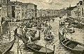 I gondolieri scioperanti accompagnano la Regina Margherita alla Ferrovia.jpg