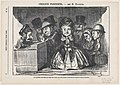 If patience had disappeared all over the world, one would surely find it again at a bus station in Paris, from 'Parisian sketches,' published in Le Petit Journal pour Rire, February 4, 1865 MET DP877343.jpg