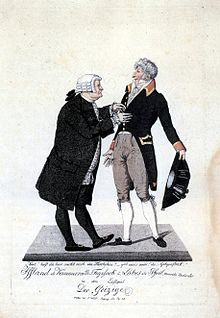 August Wilhelm Iffland and Franz Labes in Molière's Der Geizige, Berlin, c. 1810. (Source: Wikimedia)