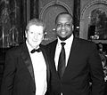 Igho Sanomi and Roy Hodgson, England Football Coach at Bobby More Fund for Cancer Research Event, London.jpg