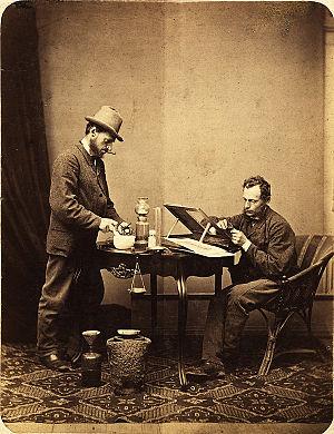 Ignác Šechtl - The double self-portrait of Ignác Šechtl, 1870