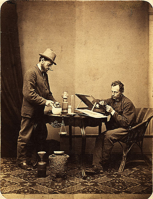 Ignác Šechtl double self portrait 1870s.jpg