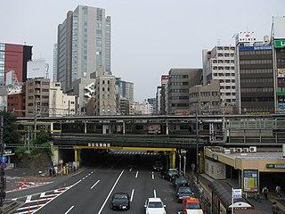 Iidabashi District in Tokyo, Japan