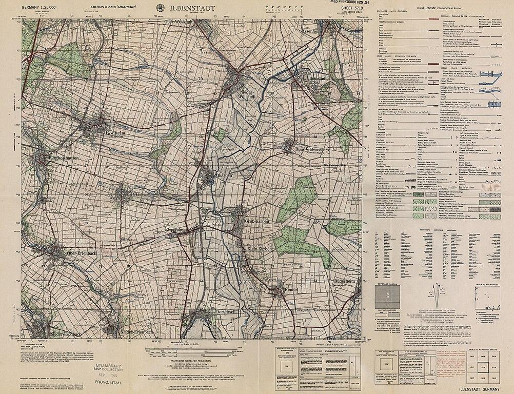 file:ilbenstadt messtischblatt byu.edu id2412 5718 1955, Esstisch ideennn