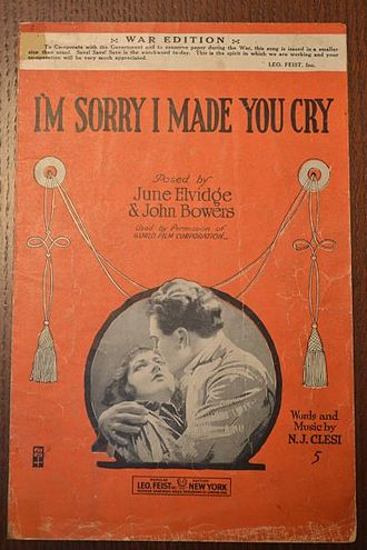 I'm Sorry I Made You Cry - Image: Im Sorry I Made You Cry
