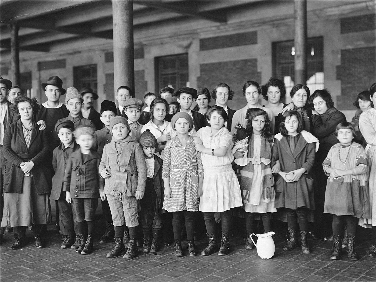 Ellis Island Children Flag Immigrant Hd