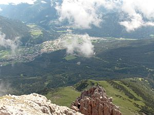 Imst/Tirol von der Vorderen Platteinspitze (2565 m) gesehen
