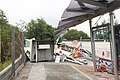 Incident of Container Truck Fallen on Pat Heung Road after Crushed into Tai Lam Tunnel Bus Interchange.jpg