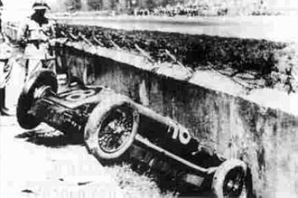 Emilio Materassi - The fatal accident of Materassi during the 1928 Italian Grand Prix held at the Autodromo Nazionale Monza