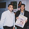 Indian Legend Film maker Subhash Ghai and Raaj Rahhi launching of Entertainment weekly Hollywood Bollywood in New York.jpg