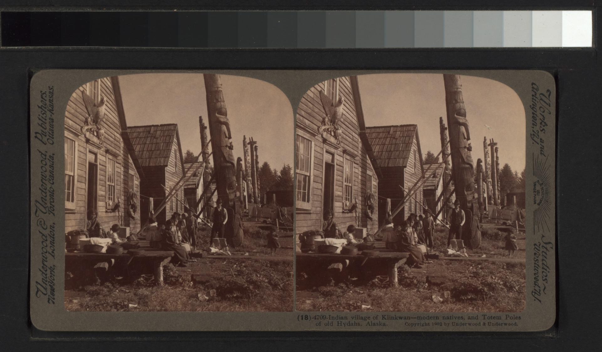 Lossy Page Px Indian Village Of Klinkwan Modern Natives C And Totem Poles Of Old Hydahs C Alaska Nypl B G F F Tif on Haida Indian Villages In Alaska