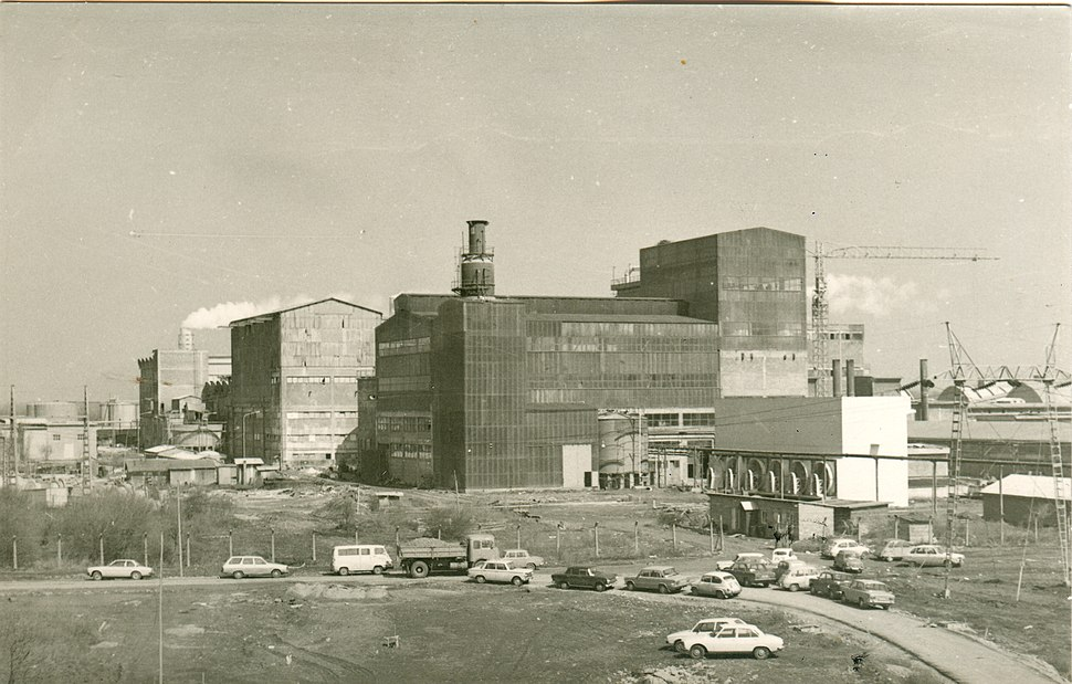 Industry chemical products in Prahovo near Negotin 1959