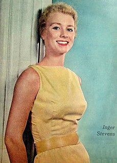 Inger Stevens Swedish-American actress