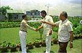 Ingit Kumar Mukhopadhyay Shakes Hands With Armoogum Parsuramen In Presence Of Saroj Ghose - Science City Site - Calcutta 1994 371.JPG