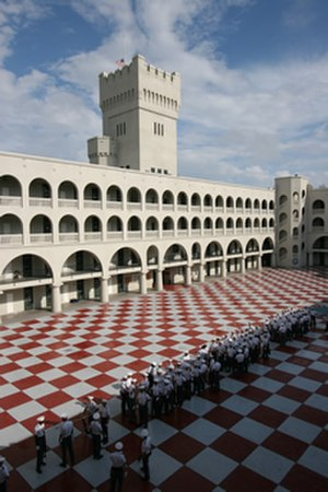 The Citadel, The Military College of South Carolina - Checkerboard Quadrangle of Padgett Thomas Barracks
